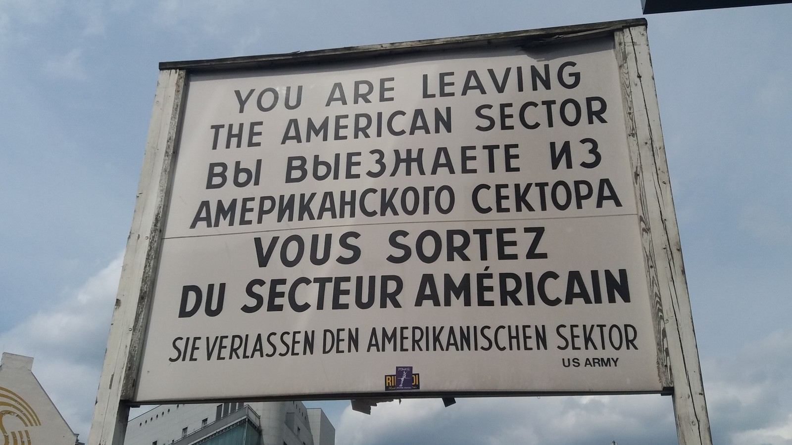 Cold War tour of Berlin Checkpoint Charlie