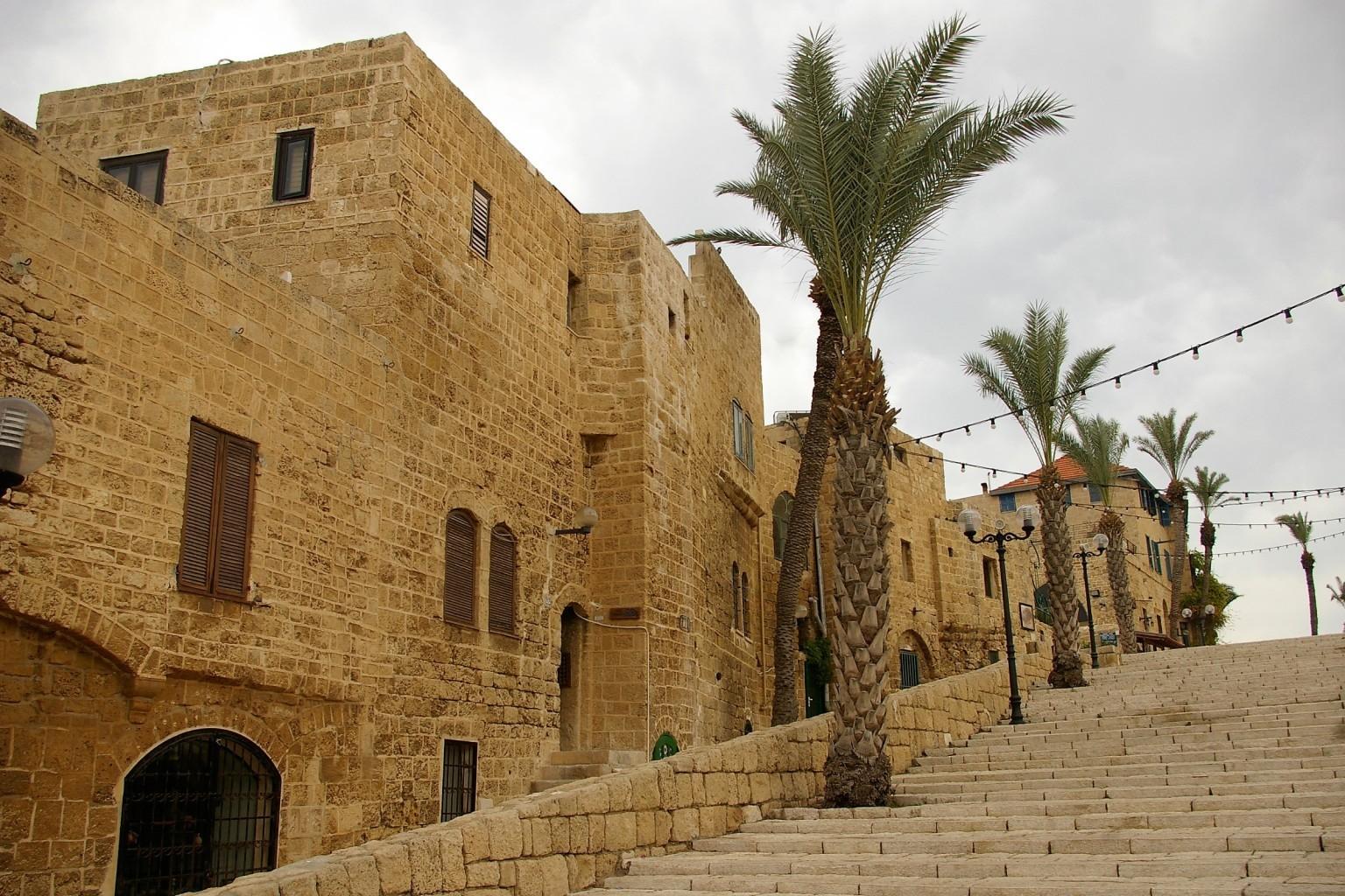 stairs to Kedumim Square Jaffa Tel Aviv