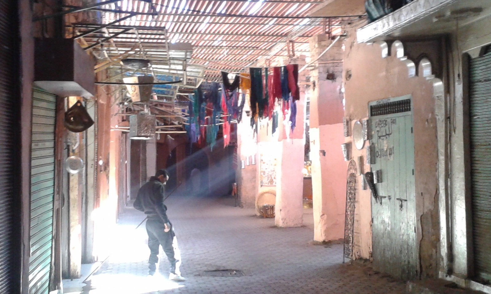 Marrakech souks early in the morning