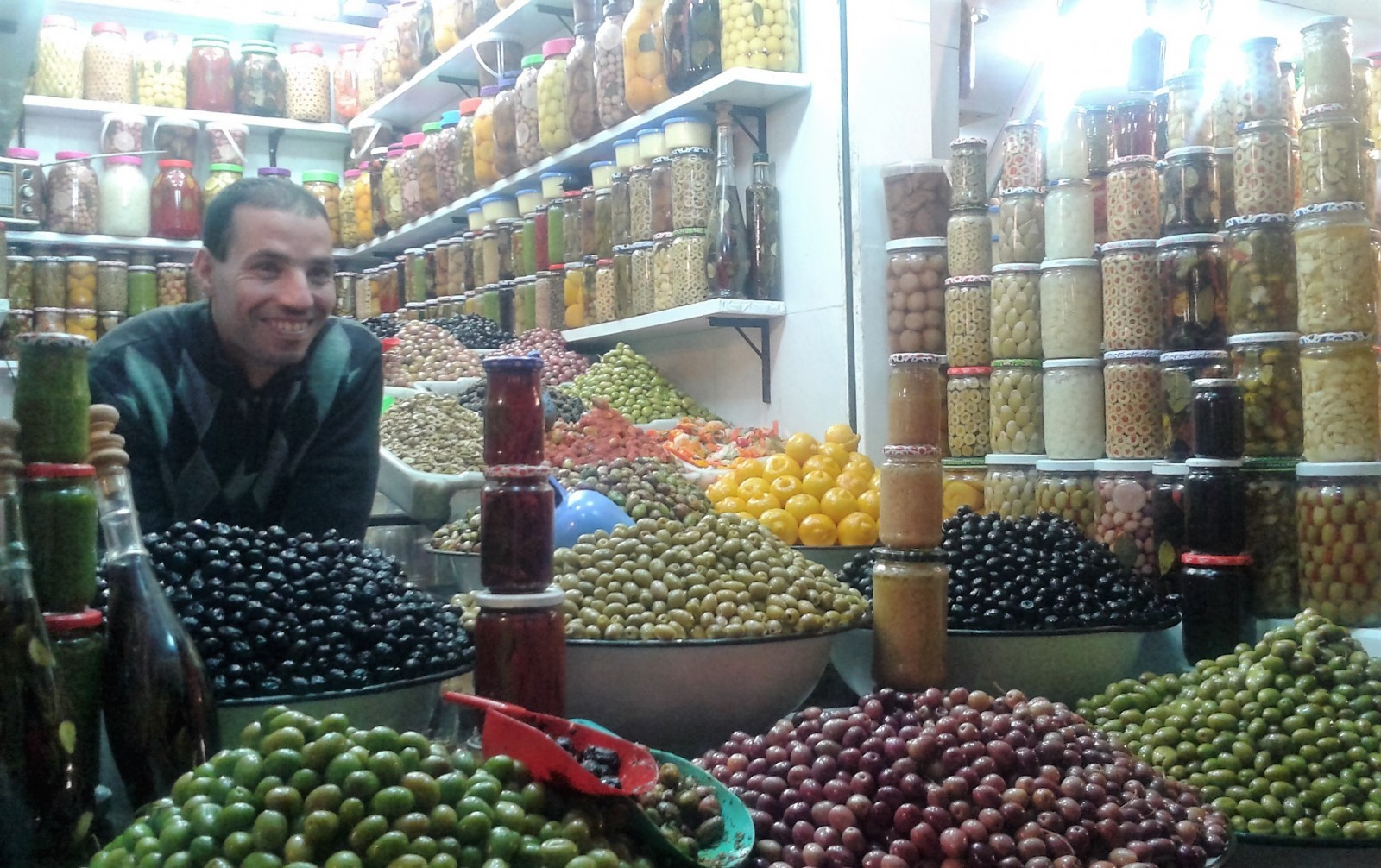olive stall marrakech