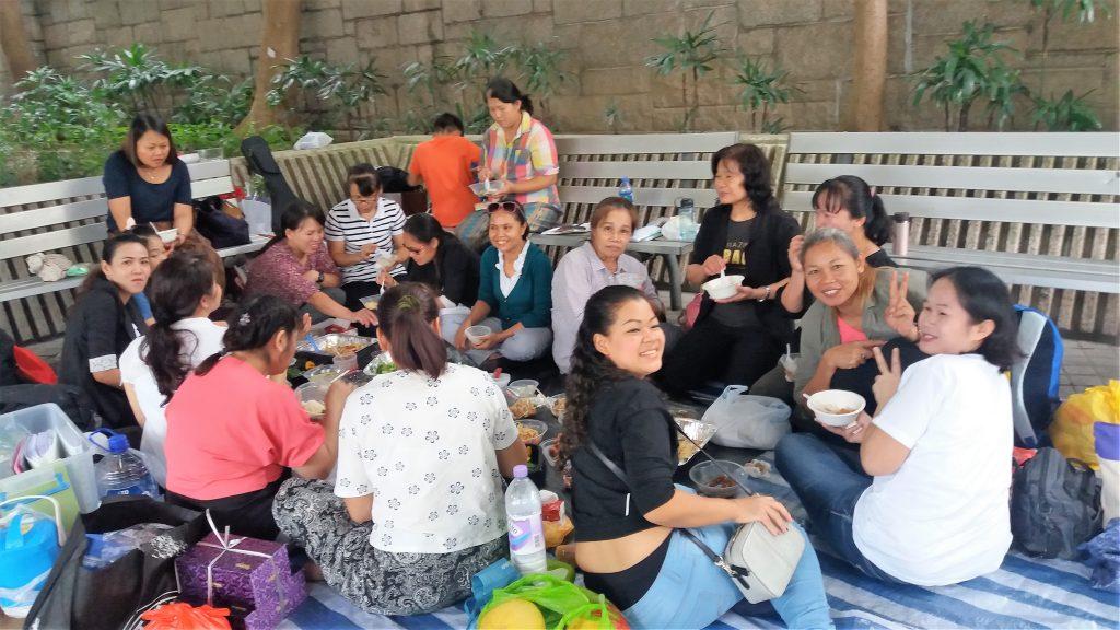 Filipino domestic workers Hong Kong Sunday
