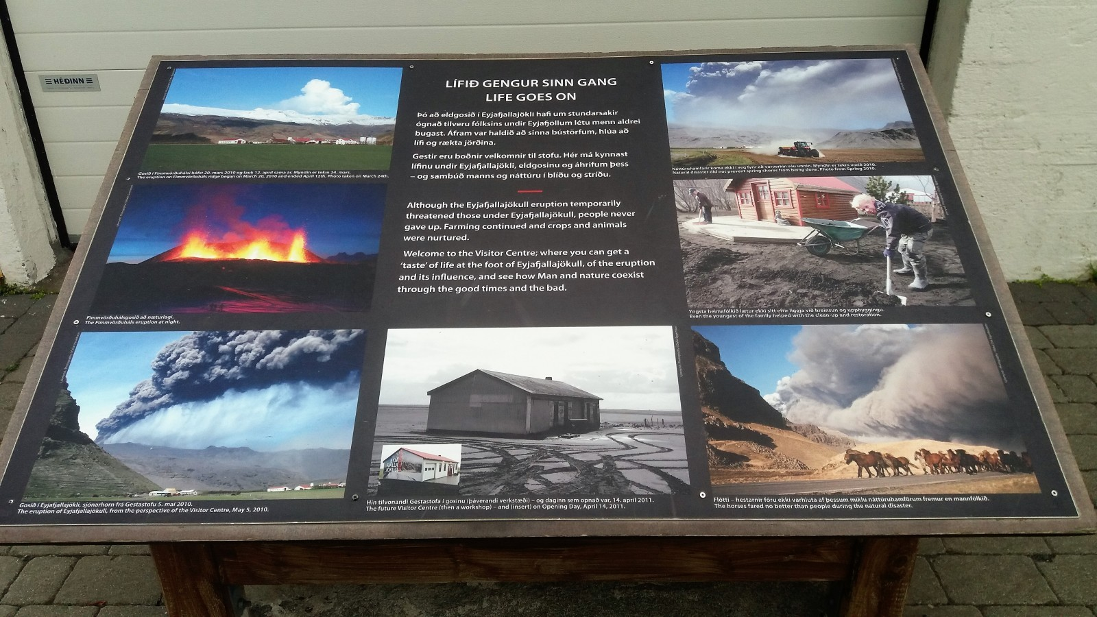 small museums in Iceland Eyjafjallajökull visitor centre