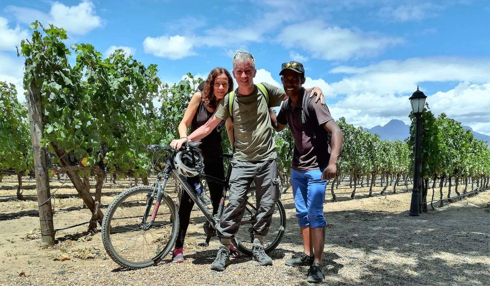 cycling tour of Stellenbosch