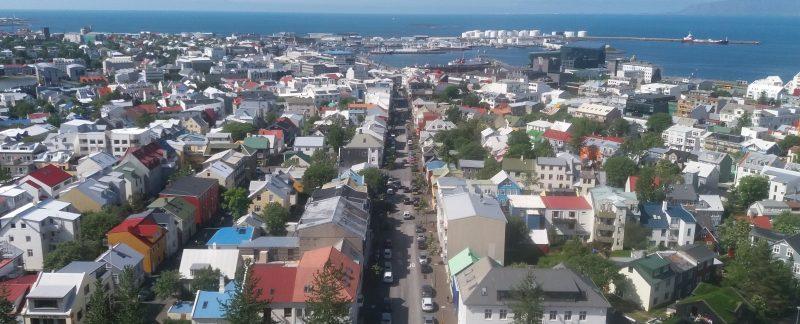 view from Hallgrimskirkja Reykjavik one day in Reykjavik