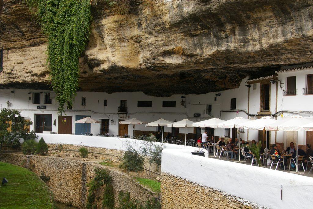 houses built in the rock Setenil de las Bodegas
