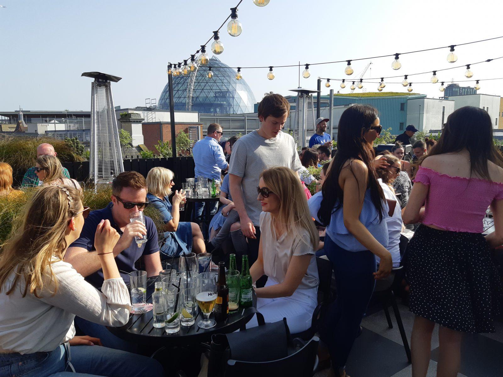 Babel rooftop bar Belfast