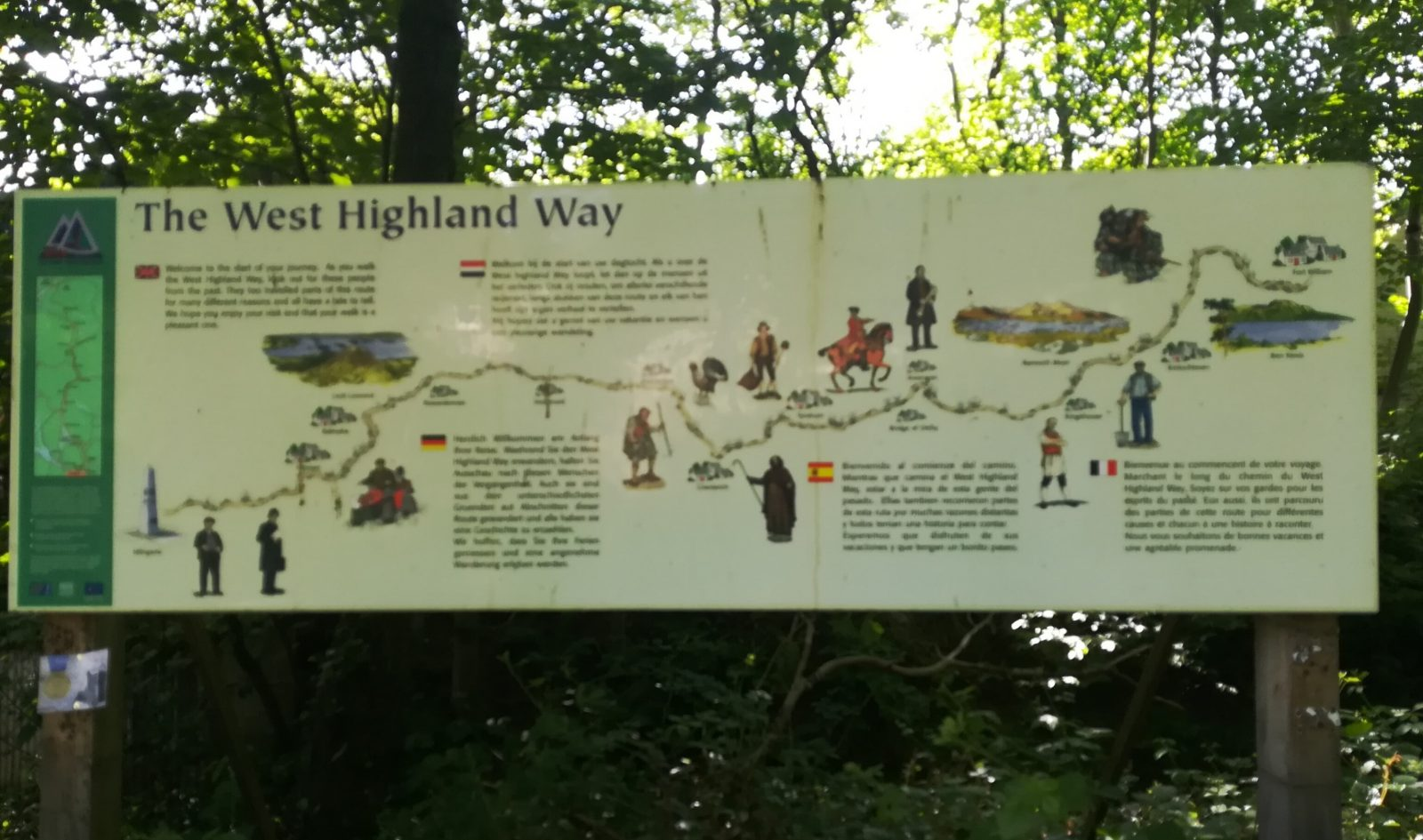 start of the West Highland Way in Milngavie