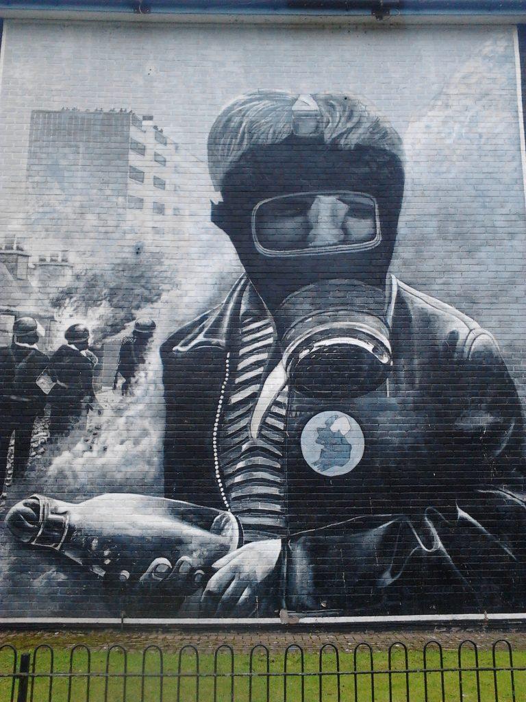 Petrol bomber Bogside murals Derry
