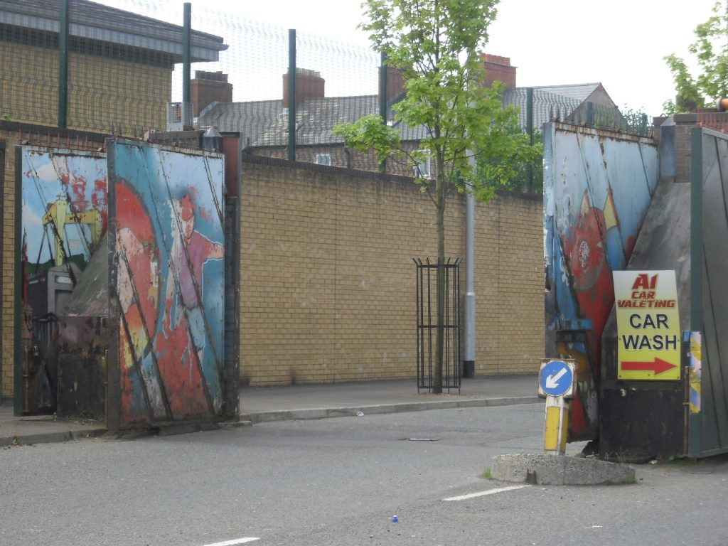 gates peace wall belfast