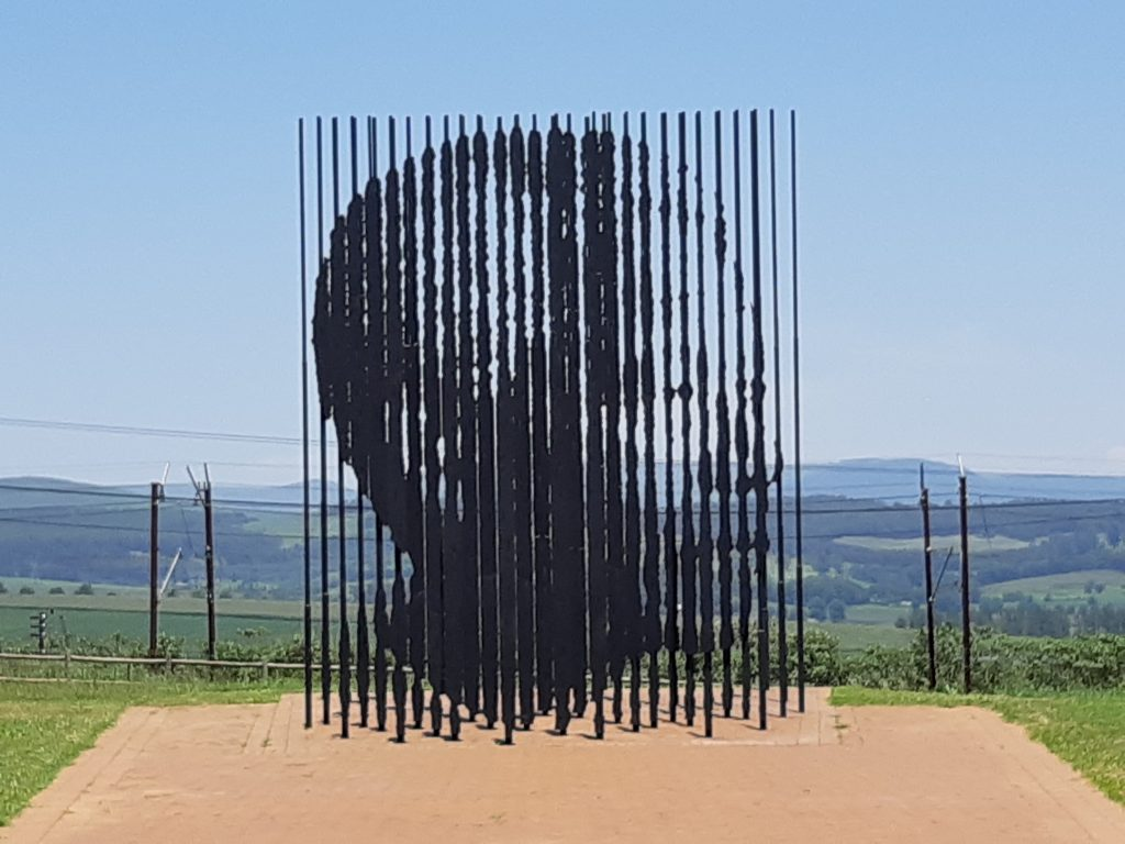 Nelson Mandela Capture Site sculpture
