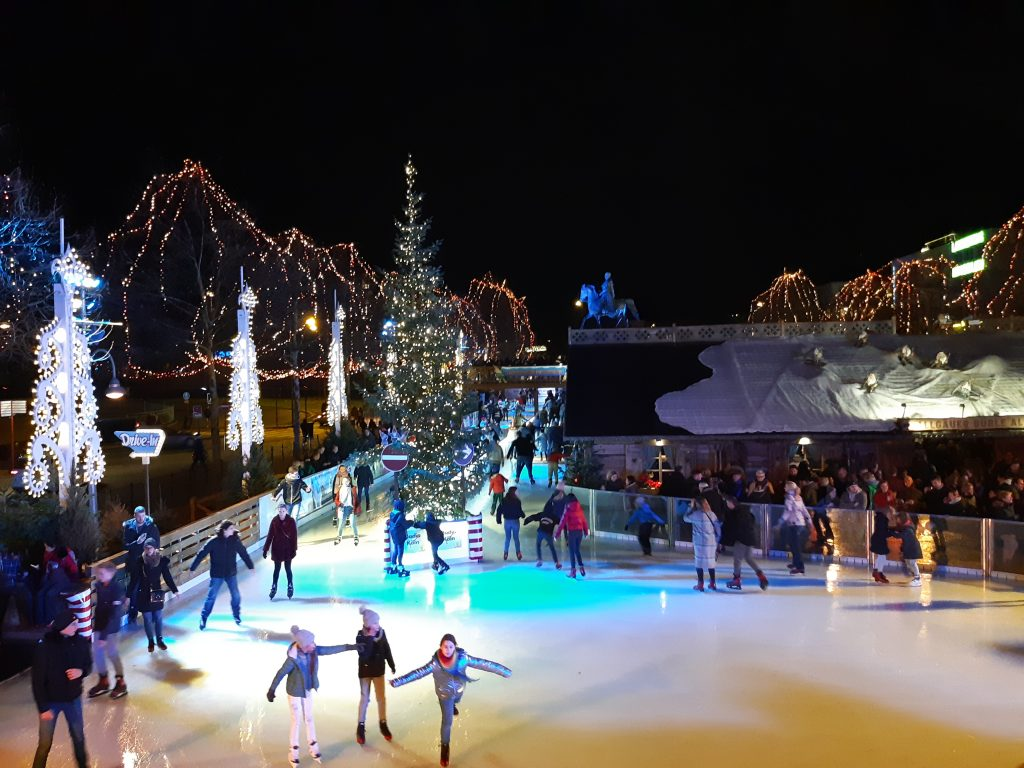 ice rink Christmas market Cologne