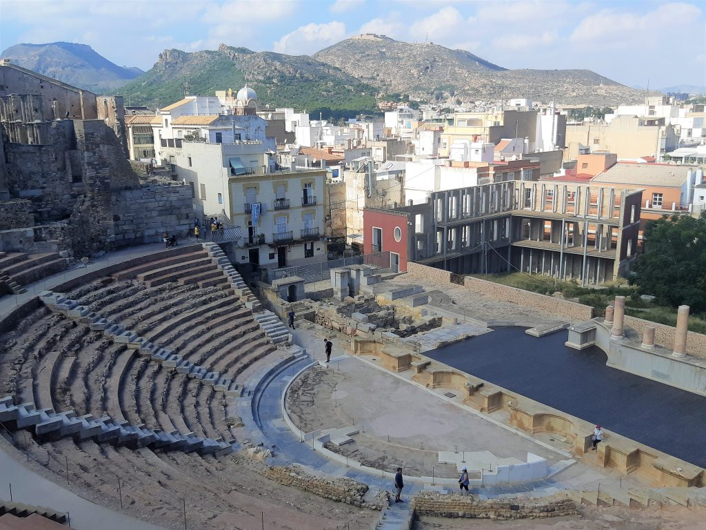 Roman theatre Cartagena Spain